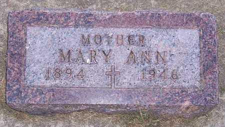 QUINN, MARY ANN - Shelby County, Iowa   MARY ANN QUINN