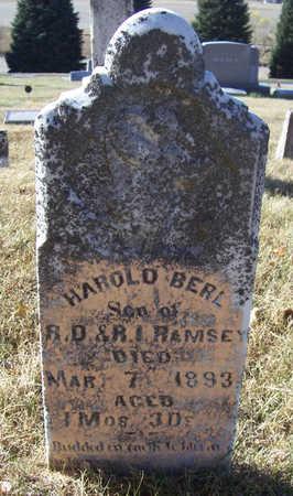 RAMSEY, HAROLD BERL - Shelby County, Iowa | HAROLD BERL RAMSEY