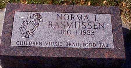 RASMUSSEN, NORMA I - Shelby County, Iowa | NORMA I RASMUSSEN