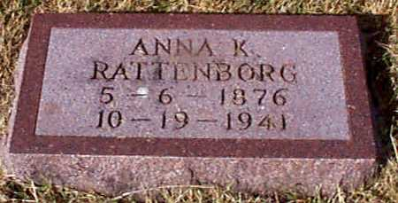 RATTENBORG, ANNA KATHRINE - Shelby County, Iowa | ANNA KATHRINE RATTENBORG