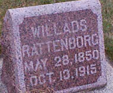 RATTENBORG, WILLADS - Shelby County, Iowa   WILLADS RATTENBORG