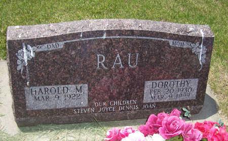 RAU, HAROLD M. - Shelby County, Iowa   HAROLD M. RAU