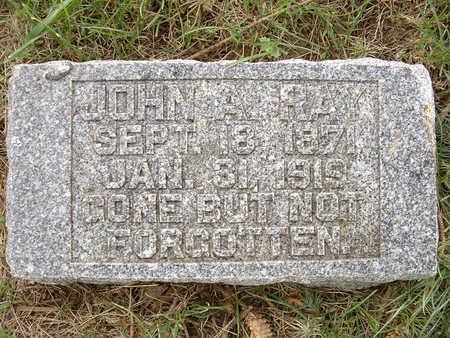 RAY, JOHN A - Shelby County, Iowa | JOHN A RAY