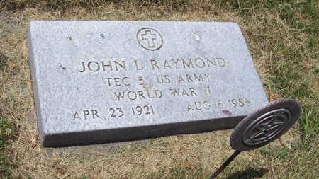 RAYMOND, JOHN L. (MILITARY) - Shelby County, Iowa | JOHN L. (MILITARY) RAYMOND