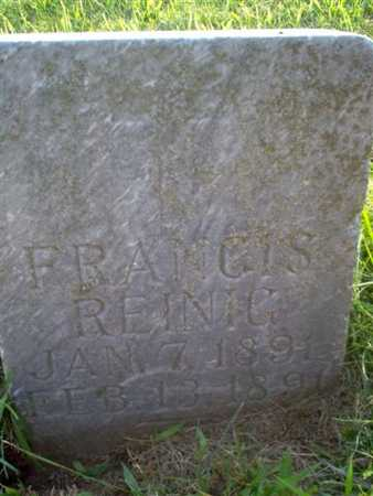 REINIG, FRANCIS - Shelby County, Iowa | FRANCIS REINIG
