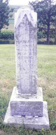 REINIG, MARIA ANNA - Shelby County, Iowa | MARIA ANNA REINIG