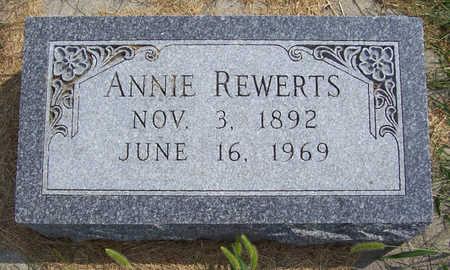 REWERTS, ANNIE - Shelby County, Iowa | ANNIE REWERTS