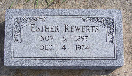 REWERTS, ESTHER - Shelby County, Iowa   ESTHER REWERTS