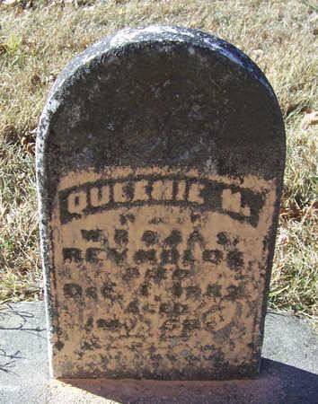 REYNOLDS, QUEENIE M. - Shelby County, Iowa | QUEENIE M. REYNOLDS