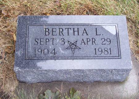 RIHNER, BERTHA L. - Shelby County, Iowa   BERTHA L. RIHNER