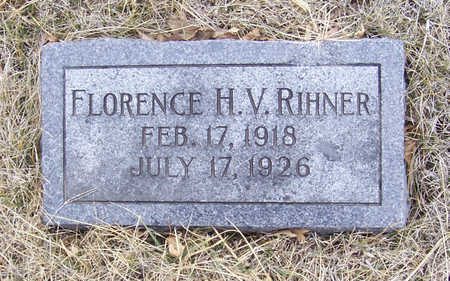 RIHNER, FLORENCE H. V. - Shelby County, Iowa | FLORENCE H. V. RIHNER