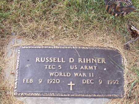 RIHNER, RUSSELL D. (MILITARY) - Shelby County, Iowa | RUSSELL D. (MILITARY) RIHNER