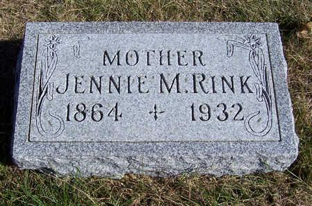 RINK, JENNIE M. (MOTHER) - Shelby County, Iowa   JENNIE M. (MOTHER) RINK