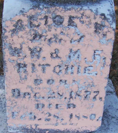 RITCHIE, ALICE F. (CLOSE-UP) - Shelby County, Iowa | ALICE F. (CLOSE-UP) RITCHIE