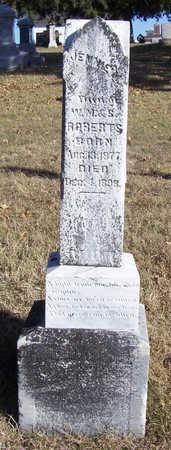 ROBERTS, JENNIE M. - Shelby County, Iowa | JENNIE M. ROBERTS