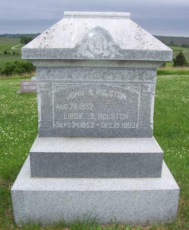 ROLSTON, LIBBIE S. - Shelby County, Iowa | LIBBIE S. ROLSTON