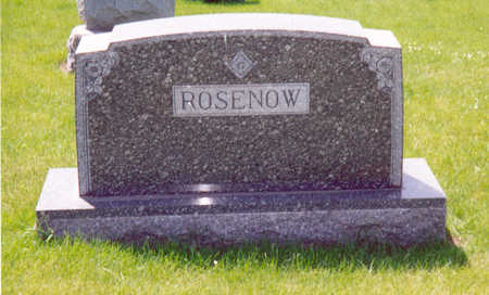ROSENOW, FAMILY STONE - Shelby County, Iowa | FAMILY STONE ROSENOW
