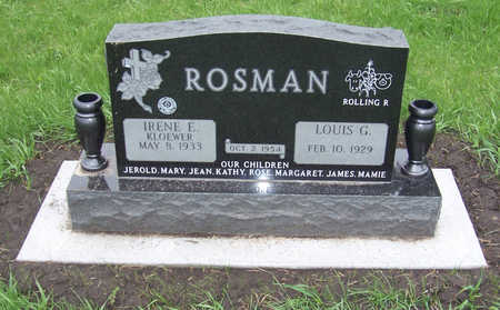 KLOEWER ROSMAN, IRENE E. - Shelby County, Iowa | IRENE E. KLOEWER ROSMAN