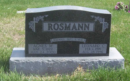 ROSMANN, LEONARD C. & AGNES M. - Shelby County, Iowa | LEONARD C. & AGNES M. ROSMANN
