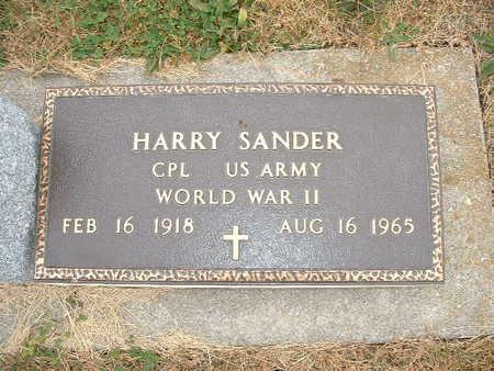 SANDER, HARRY (MILITARY) - Shelby County, Iowa | HARRY (MILITARY) SANDER