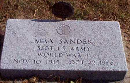 SANDER, MAX - Shelby County, Iowa   MAX SANDER