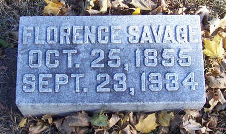 SAVAGE, FLORENCE - Shelby County, Iowa | FLORENCE SAVAGE