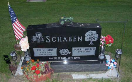 SCHABEN, JANICE D. - Shelby County, Iowa | JANICE D. SCHABEN