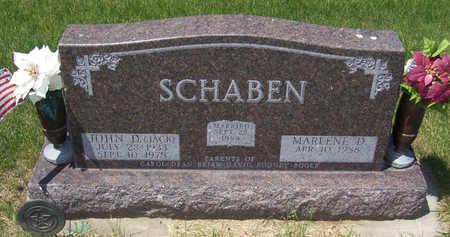 SCHABEN, MARLENE D. - Shelby County, Iowa | MARLENE D. SCHABEN