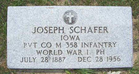 SCHAFER, JOSEPH - Shelby County, Iowa   JOSEPH SCHAFER