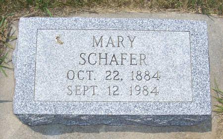 SCHAFER, MARY - Shelby County, Iowa | MARY SCHAFER