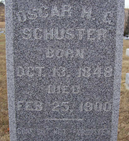 SCHUSTER, OSCAR H. G. (CLOSE-UP) - Shelby County, Iowa | OSCAR H. G. (CLOSE-UP) SCHUSTER