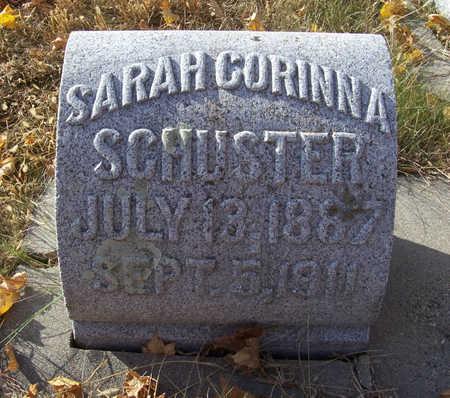SCHUSTER, SARAH CORINNA - Shelby County, Iowa   SARAH CORINNA SCHUSTER