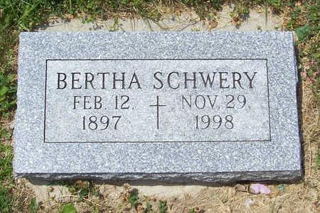 SCHWERY, BERTHA - Shelby County, Iowa   BERTHA SCHWERY