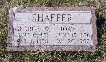 SHAFFER, IOWA G. - Shelby County, Iowa | IOWA G. SHAFFER