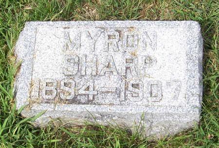 SHARP, MYRON - Shelby County, Iowa | MYRON SHARP
