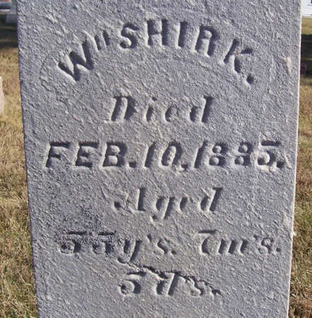 SHIRK, WM. (CLOSE-UP) - Shelby County, Iowa | WM. (CLOSE-UP) SHIRK