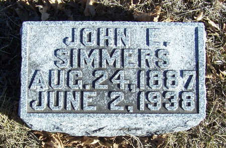 SIMMERS, JOHN E. - Shelby County, Iowa | JOHN E. SIMMERS