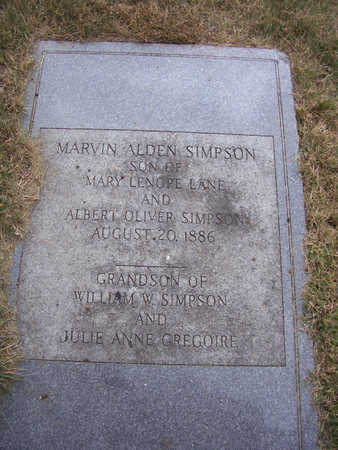 SIMPSON, MARVIN ALDEN - Shelby County, Iowa | MARVIN ALDEN SIMPSON