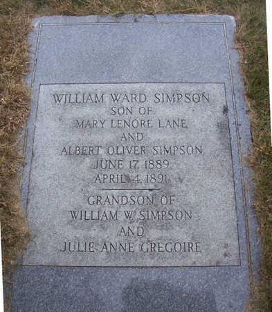 SIMPSON, WILLIAM WARD - Shelby County, Iowa | WILLIAM WARD SIMPSON