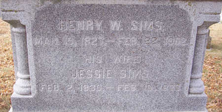 SIMS, HENRY W. (CLOSE-UP) - Shelby County, Iowa | HENRY W. (CLOSE-UP) SIMS