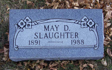 SLAUGHTER, MAY D. - Shelby County, Iowa | MAY D. SLAUGHTER