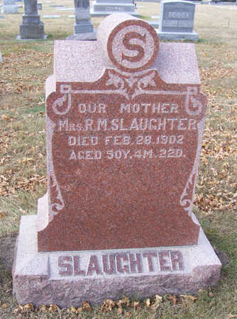 SLAUGHTER, MRS. R. M. (MOTHER) - Shelby County, Iowa | MRS. R. M. (MOTHER) SLAUGHTER