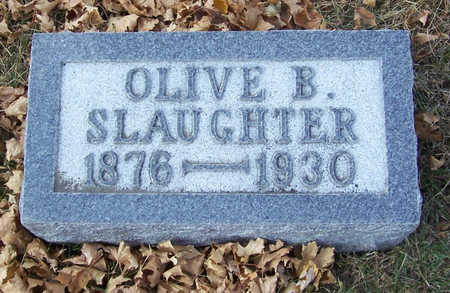 SLAUGHTER, OLIVE B. - Shelby County, Iowa | OLIVE B. SLAUGHTER