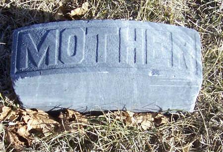 SMITH, MARY (MOTHER) - Shelby County, Iowa   MARY (MOTHER) SMITH