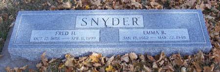 SNYDER, EMMA B. - Shelby County, Iowa   EMMA B. SNYDER