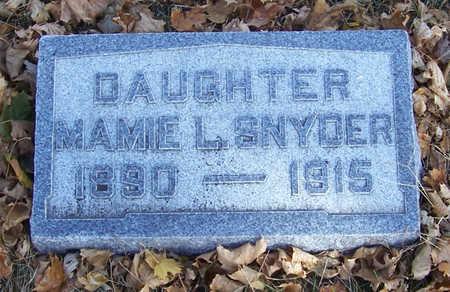 SNYDER, MAMIE L. - Shelby County, Iowa | MAMIE L. SNYDER