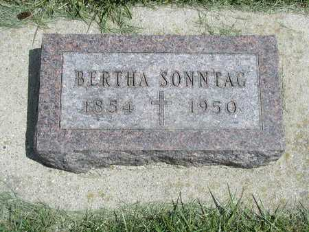 KUHL SONNTAG, BERTHA - Shelby County, Iowa   BERTHA KUHL SONNTAG