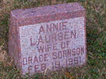 LAURSEN SORENSEN, ANNIE - Shelby County, Iowa | ANNIE LAURSEN SORENSEN