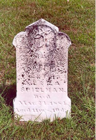 SPIELMAN, JOSEPH W. - Shelby County, Iowa | JOSEPH W. SPIELMAN