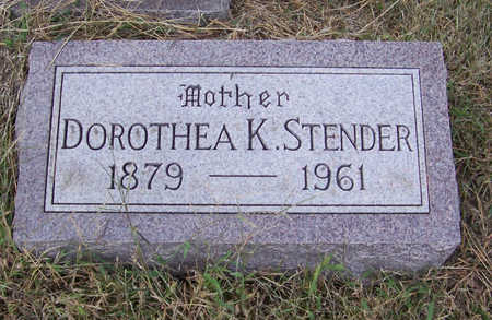 STENDER, DOROTHEA K. (MOTHER) - Shelby County, Iowa | DOROTHEA K. (MOTHER) STENDER